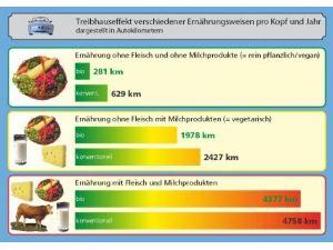 Treibhauseffekt verschiedener Ernährungsweisen