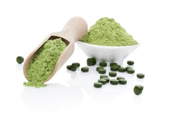 Chlorella mit Weizengras